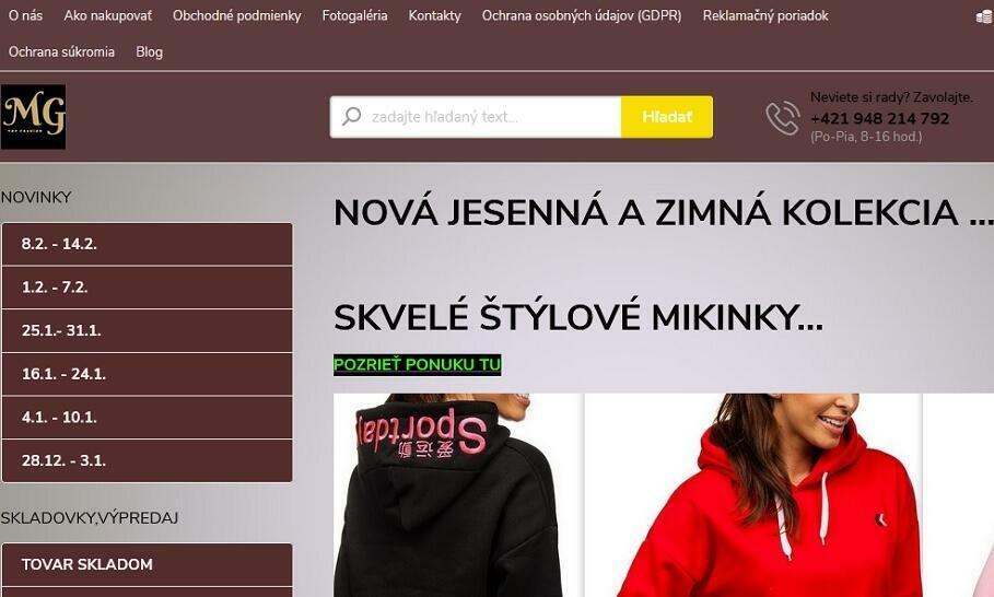 MG TOP FASHION predáva exkluzívne detské oblečenie za výhodné ceny