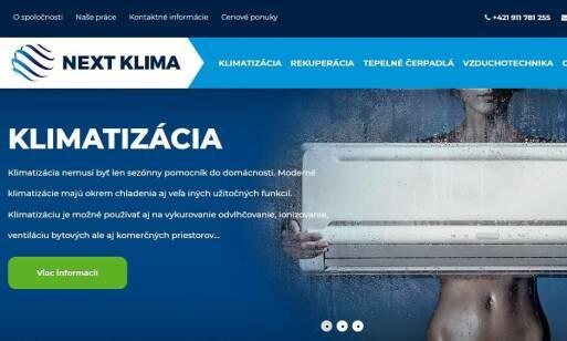 NEXT KLIMA - klimatizácia do bytu, domu aj na prevádzku