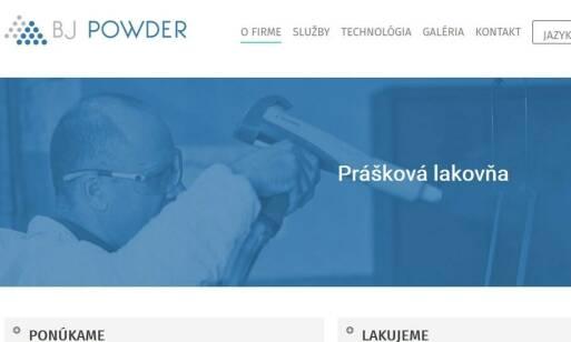 BJ POWDER - kvalitné a efektívne práškové lakovanie