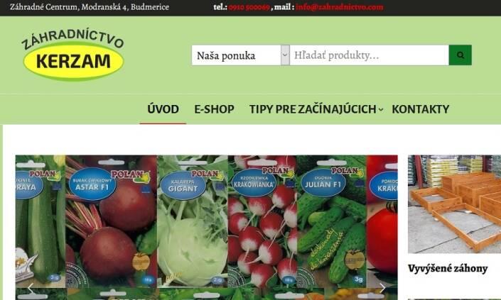 KERZAM - predaj ovocných stromov, skleníkov a fóliovníkov